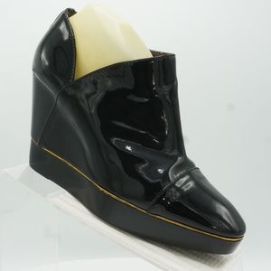 Sergio Rossi Size 10.5 Wedge Boots Womens C3B C18